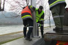 2. Probeaufbau Hochwasserschutz 2011