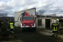 Hilfeleistung beim Großbrand in Dürnstein 24.02.2017