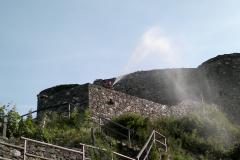 Löschwasserleitung Ruine 2011